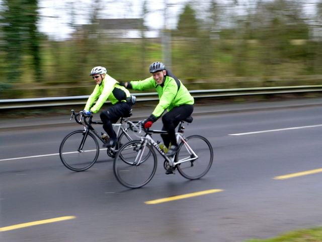 Midwest Radio - Children cycling through Galway this morning
