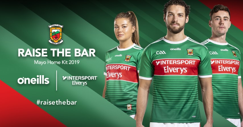 3b72ce05cf2 Mayo GAA in partnership with Intersport Elverys and O'Neills have today  unveiled the brand new Mayo GAA Home jersey which will be worn by Mayo's  intercounty ...