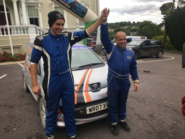 An eventful day on the first leg of the Jim Walsh Cork 2 day Forest Rally, seen Jason and Matthew Murphy in their Peugeot 107 get caught out on a fast ...